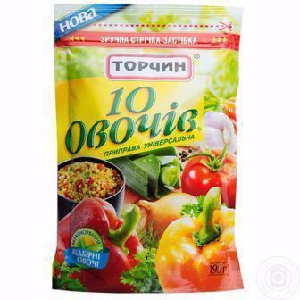 Приправа 10 овочів Торчин 170г