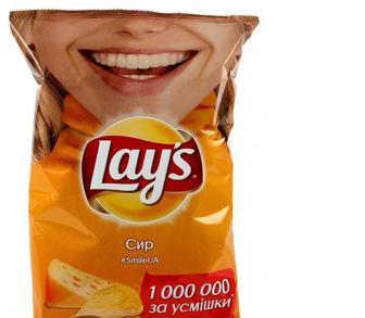 Чіпси в Краб, Сир, Сметана і зелень, Lay's, 133г