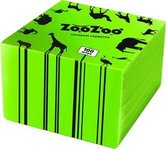 Серветки ZooZoo білі, зелені Сніжна Панда 100шт