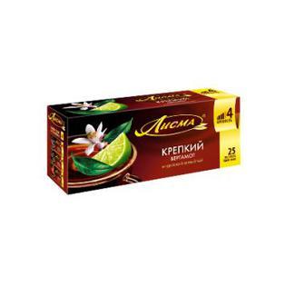 Чай чорний Iндійський мiцний, ароматний с бергамотом Лісма 25*2 г, 20*1,5 г