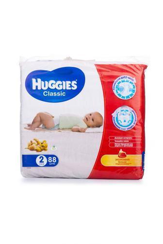 Подгузники Huggies Classic р2 3-6кг 88шт