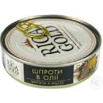Шпроты в олії Riga Gold 160г,