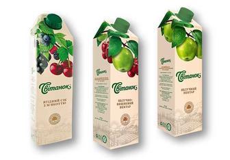 Нектар/Сок яблучно-вишневий/ яблучний /ягідний з м'якоттю із суміші фруктів Світанок 0,95 л