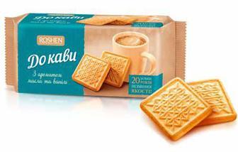 Печиво цукрове До кави з ароматом пряженого молока, з ароматом масла та ванілі Рошен 185г