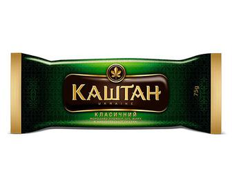 Морозиво «Каштан» класичний пломбір в кондитерській глазурі, 75г
