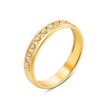 Золотое кольцо с фианитами. Артикул 12471/eu