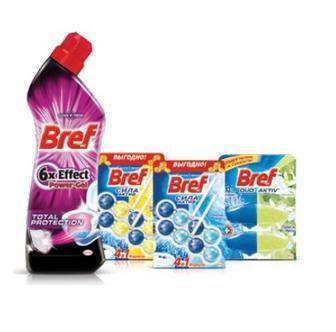 Средства для чистки и ухода торговой марки Bref