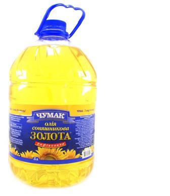 Олія соняшникова Чумак рафінована дезодорована, 4600 г