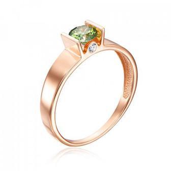 Золотое кольцо с фианитами Swarovski. Артикул 12159/01/0/1380