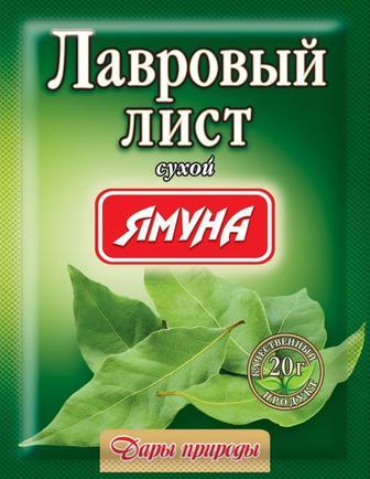 Приправа Ямуна Лавровий лист сухий 20г