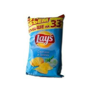Чіпси картопляні сметана та зелень або краб Lay's 200 г