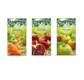 Нектар Яблучно-виноградний Яблучно-вишневий   Садочок 0,95 л