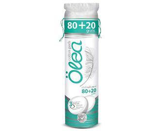 Диски ватні Olea косметичні круглі + 20шт. безкоштовно, 80+20шт./уп