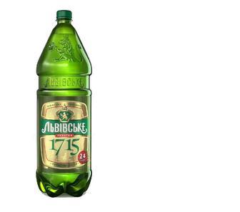 Пиво Львівське 1715 світле 4,7% пет, Львівське, 1,2 л