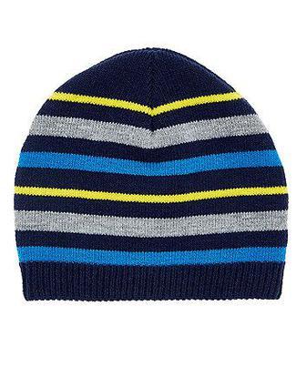 Смугаста синя шапка від Mothercare