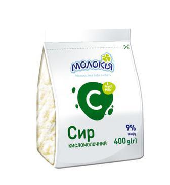 Сир Кисломолочний Стабіло 9% Молокія 400г