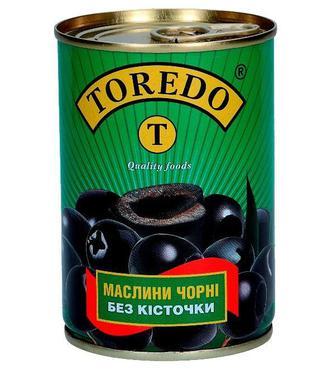 Маслина чорна Торедо б/к 300г