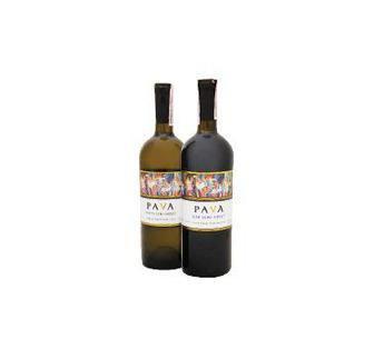 Вино PAVA красн., белое п/сл, 0,75 л