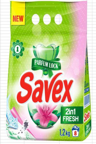 Порошок Savex Parfum Lock 2в1 Fresh автом.1,2кг