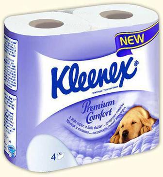 Туалетная бумага Kleenex Premium Care 4 шт