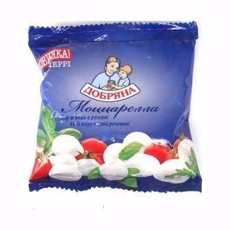 Сир М'який Моццарелла, 45%, Добряна,125-130г