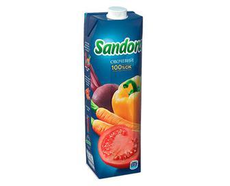 Скидка 34% ▷ Сік Sandora овочевий з м'якоттю, 0,95л