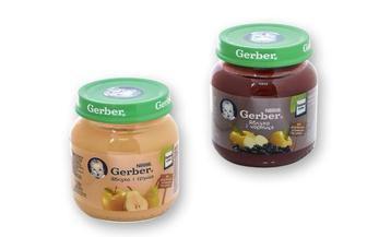 Пюре Gerber овощное и фруктовое