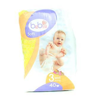 Подгузники детские торговой марки Bebis Soft 34,36,40шт