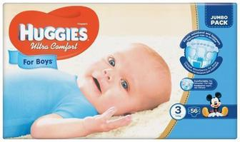 Подгузники Huggies Ultra Comfort Jumbo р.3 (5-9 кг) для мальчиков 56 шт