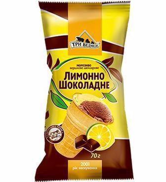 Морозиво Лимон-шок, Фісташка ваф.ст. 80г, Три Ведмеді