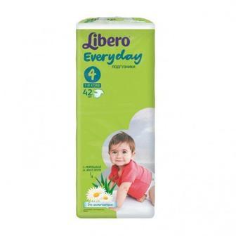 Підгузки Libero Everyday Розмір 4 (7-18 КГ) 42 шт