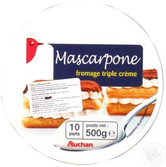 Сыр Ашан Маскарпоне мягкий 36% 250г Италия
