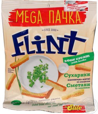 Грінки житні або сухарики пшеничні Флінт 70 г
