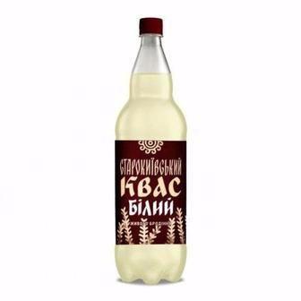 Квас білий, темний Старокиївський 1л