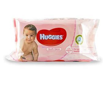 Дитячі вологі серветки Huggies Soft Skin 56шт