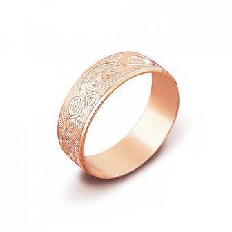 Скидка 41% ▷ Обручальное кольцо с алмазной гранью. Артикул 1070/11