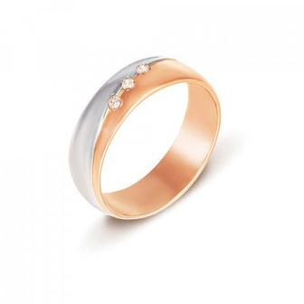Обручальное кольцо с бриллиантами Артикул 1019/1.5