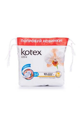 Прокладки для критических дней KOTEX Ультра Софт Нормал 10шт