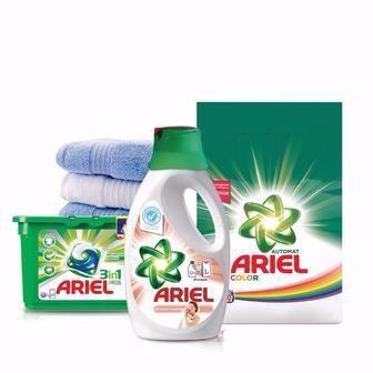 Стиральный порошок Ariel 3кг, жидкие капсулы для стирки и жидкое средство для стирки