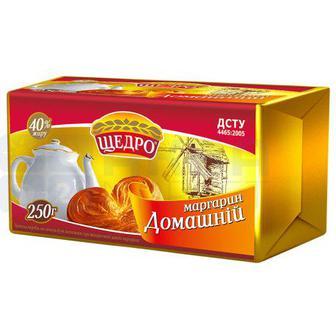 Маргарин Домашній 40% Щедро 250г