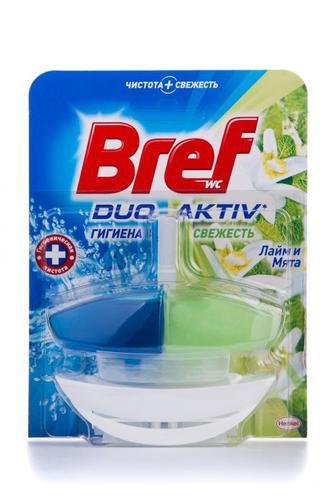 Скидка 22% ▷ Чистящее средство для туалета Bref Дуо Актив Природный Баланс Лайм и Мята с корзинкой, 50мл