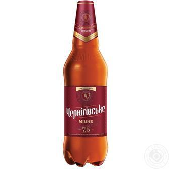Пиво Крепкое Черниговское 1л