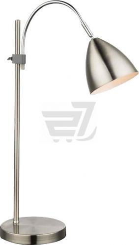 Настільна лампа офісна Globo Tischleuchte 1x40 Вт E14 матовий нікель 24857