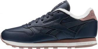 Кросівки Reebok Classic Leather Sherpa AR2788 р. 8 темно-синій