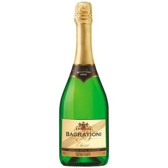Вино ігристе Багратиони біле напівсухе 0,75л