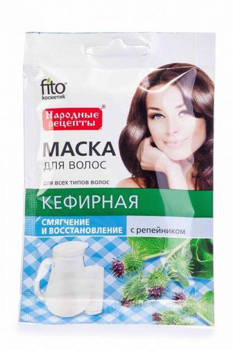 Маска для волос Fitoкосметик с репейником Кефирная, 30 мл