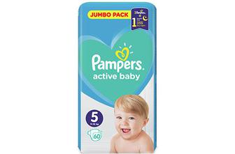 Підгузки Pampers Active Baby Junior 11-16 кг, 60 шт./уп