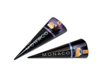Морозиво Monaco Еклер-Брауні/ Чорничний чізкейк, ріжок Три Ведмеді 100/110 г
