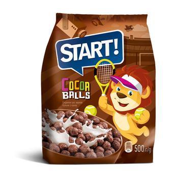 Сніданки сухі зернові, кульки з какао Старт 500г