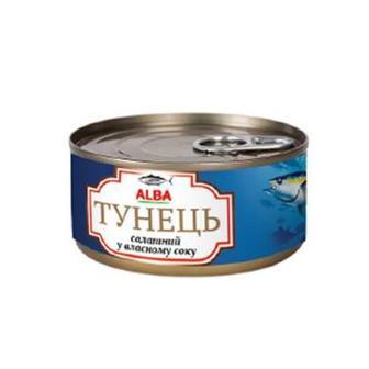 Скидка 30% ▷ Тунець салатний в олії, в власному соку, Alaba Food, 150 г